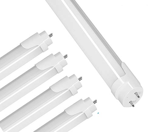 T8 LED Bulbs,4FT LED Tube 4000K Cool White, 18W(40W Equiv),Single-End Powered,Ballast Removal,F40T8 Fluorescent Tube Light Bulbs Replacement,Home,Warehouse, Shop Light-4Pack