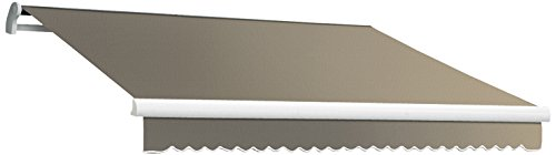 Awntech 24-Feet Maui-LX Left Motor with Remote Retractable Acrylic Awning, 120-Inch Projection, Taupe