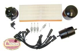 Jeep Wrangler (1991-1993) with 2.5L Engine (Metric): Tune Up Kit TK-14 Kit Crown Jeep Tune