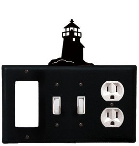 Lighthouse Iron Switchplate (EGSSO-10 Lighthouse GFI Switch Switch Outlet Electric Cover)