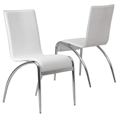 Christopher Knight Home Enola Furniture Modern Design Dining Chairs White Set of 2