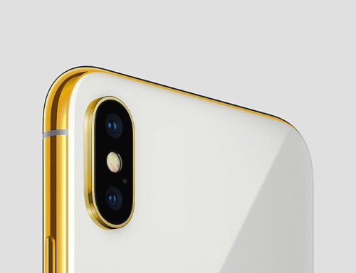 24K Gold Plated iPhone X 256 GB Silver - Unlocked Custom