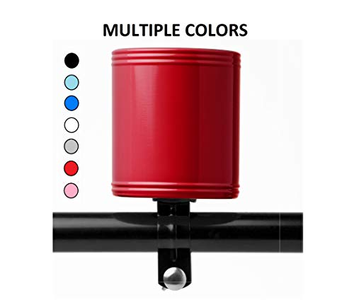 Cruzies Bike Cup Holders/Bicycle Cell Phone Holder - from The Same Manufacturers of The HydroFlask (Red) - Beach Cruiser Bottle Holder ()