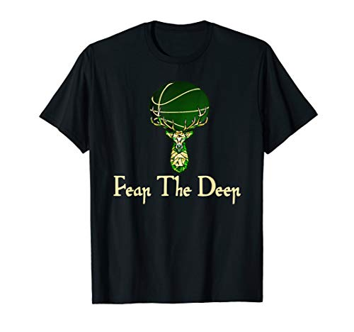 Fear The Deer Milwaukee Basketball Fans Green Ball Tshirt
