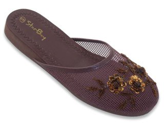 ecd92e11af898 starbay New Womens Chinese Mesh Slippers Slides Slip On Sandal House Shoe  Floral Sequin Bead: Amazon.ca: Shoes & Handbags