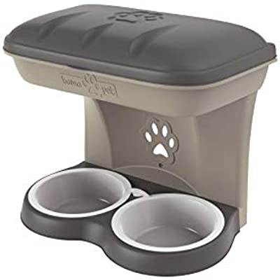 Bama Pet Elevated Food Stand - Large, Taupe