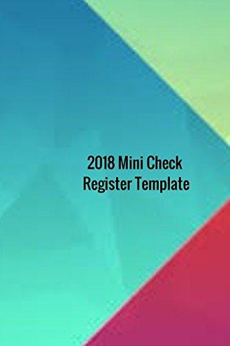 amazon 2018 mini check register template 2018 check sheet log