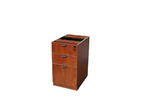 Boss Deluxe Pedestal 15-1/2 W by 22 D Full Box/Box/File, Cherry by Boss Office Products