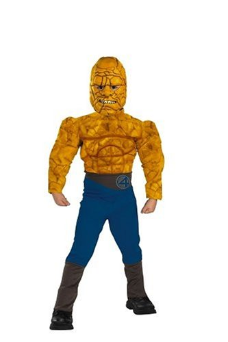 Fantastic Four Costumes The Thing - Fantastic Four Muscle Costume - The Thing: Size 7-8