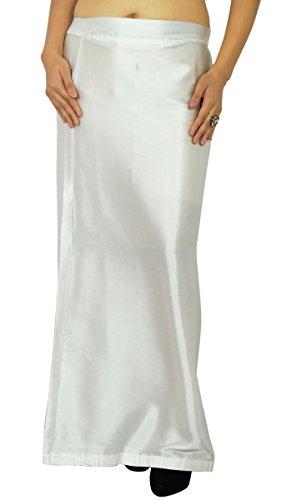 sheshe Readymade Inskirt Lining For Sari Indian Bollywood Satin Silk ()