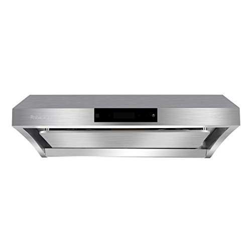 Robanku 30 Wall-Mounted Range Hood, 860CFM Stainless Steel Under Cabinet Kitchen Range Hood Vent Cooking Fan with Touch Control and Auto-clean