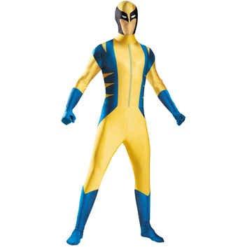 Wolverine Deluxe Bodysuit Tween Costume - (Wolverine Bodysuit Kids Costumes)