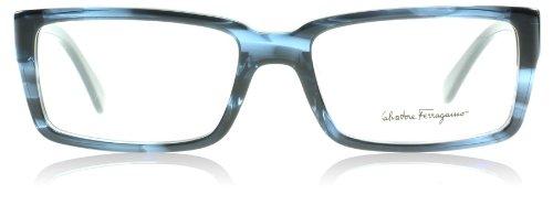 (Salvatore Ferragamo Glasses 2624 Blue Havana 2624 Rectangle Sunglasses)