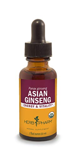 Herb Pharm Asian (Panax) Ginseng Liquid Extract for Energy and Stamina Support - 1 Ounce