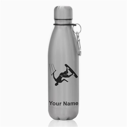 Water Bottle - Kite Surfing - Personalized Engraving Included by SkunkWerkz