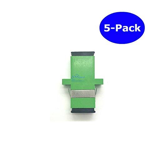 SNS Fiber Optic SC To SC/APC Simplex Single Mode Adapter 5-Pack