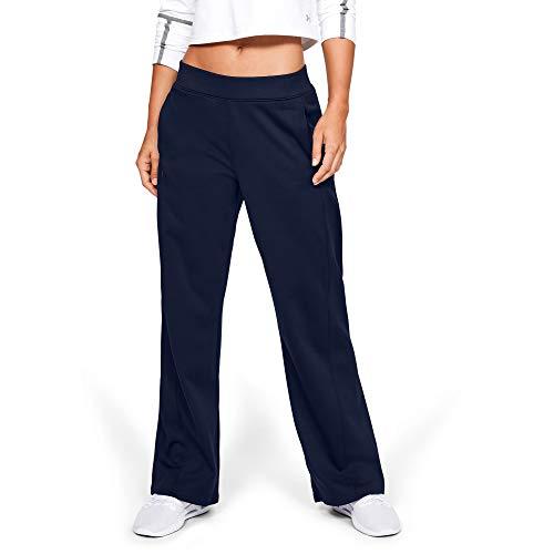 Under Armour Women's Synthetic Fleece Open Pant, Academy (408)/Tonal, Small