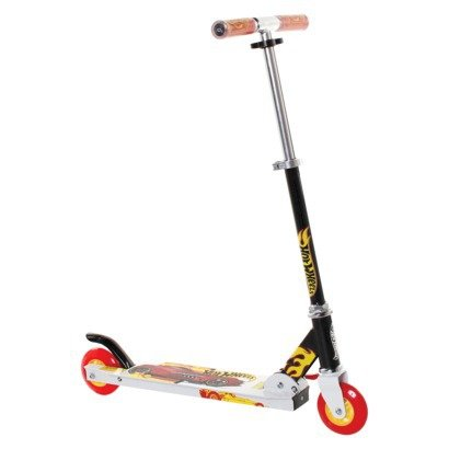Hot Wheels Folding Scooter Black White Flames - Hot Wheels Scooter
