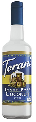 Torani Sugar Free Syrup, Coconut, 25.4 Fluid Ounce (Pack of 4)