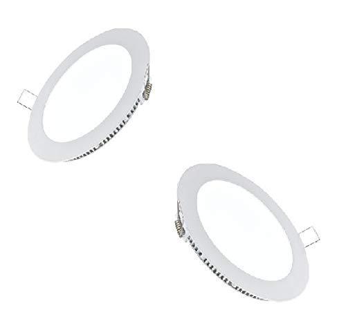 Smart led light 8 Watt b15d LED Round False Slim Ceiling, Recessed Panel Light for POP (White) – Pack of 2