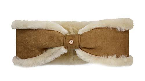 UGG Women's Bow Water Resistant Sheepskin Headband Chestnut One Size]()