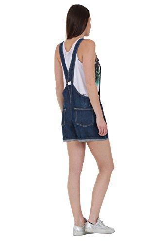 Salopette Anna Oversized Loose Indaco Annaindigo Corte Uskees Short Pantaloncini Fit Donn TwtqdF6