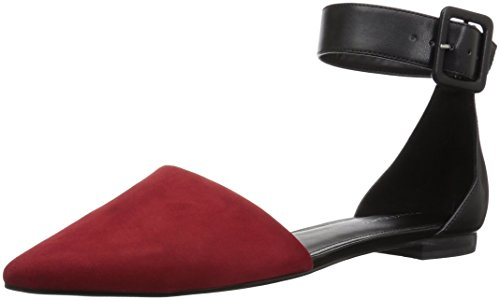 Women's Flat Black Ballet Marc Red ALFOSO5 Fisher 5BpzwWqF