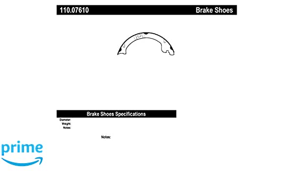 Parking Brake Shoe-C-TEK Rear Centric 110.07710