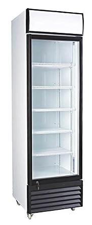 12.7 Cubic Ft. Glass Door Upright Display Beverage Cooler 360 Liter Refrigerator ( )