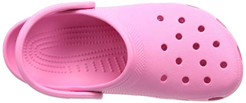 Crocs Classic Clog | Water Comfortable Slip on Shoes, Pink Lemonade, 8 Women/6 Men