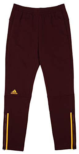 adidas Men's Squad ID Snap Track Pants, Maroon-Collegiate Gold X-Large