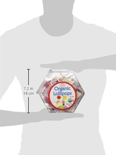 Organic Lollipops Assorted Bin, 25 Count, 6 Ounce