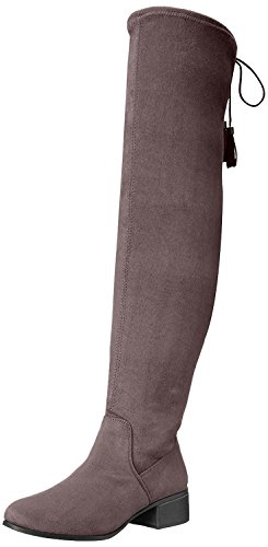 Madden Girl Women's Prissley Slouch Boot, Grey Fabric, 6.5 M US