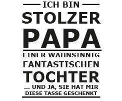 Fun Tasse Stolzer Papa Amazon De Küche Haushalt