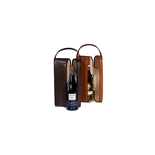 RYC621BLACK10 - Royce Leather Single Wine Presentation Case Made Leather Single Wine