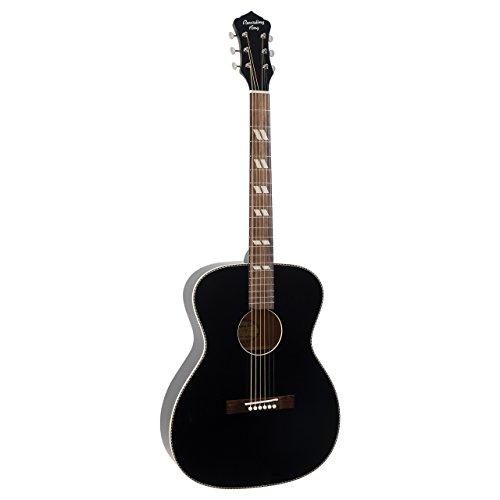 Recording King ROS-7-MBK Dirty 30's Series 7 000 Acoustic Guitar, Matte Black