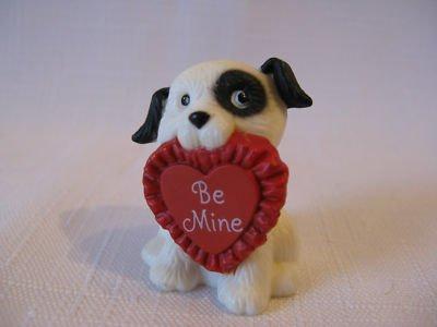 Hallmark Merry Miniatures Valentine's 1984 Dog with Ruffled Heart