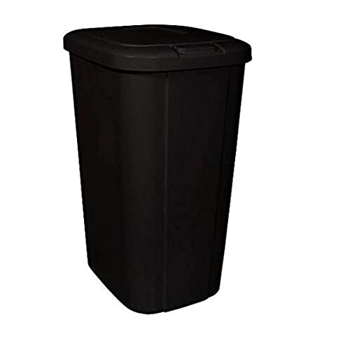 Merveilleux Hefty Touch Lid 13.3 Gallon Trash Can, Black (1)