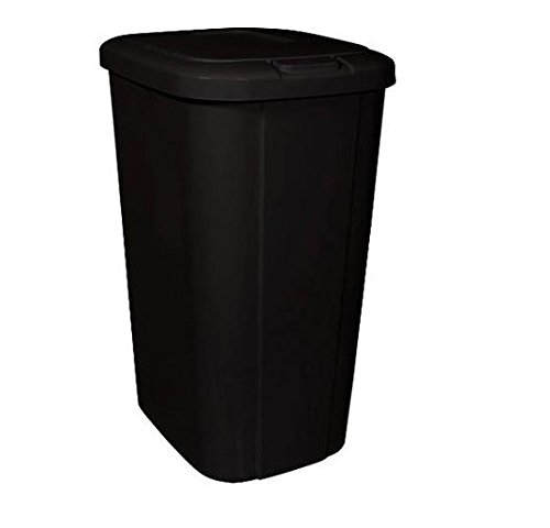 Hefty Touch-Lid 13.3-Gallon Trash Can, Black (1)
