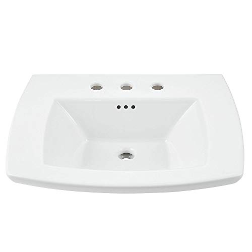 American Standard 0445008.020 Edgemere Bathroom Console Table Top - 8 Inch Centers, 8, White