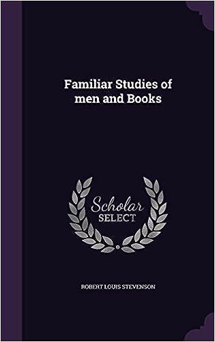 Familiar Studies Of Men And Books Robert Louis Stevenson 9781359502544 Literature Amazon Canada