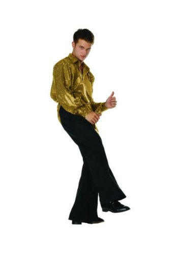 70s Disco Inferno - 70s Sequin Gold,Plus (70s Plus Size Fancy Dress Costumes)
