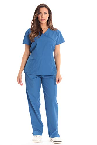 Just Love Tie Back Scrubs Set for Women 17777W-Galaxy Blue-L