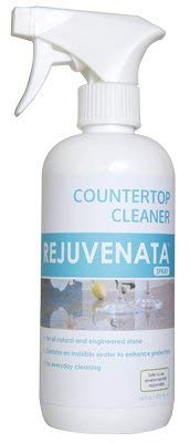 Dry-Treat Rejuvenata Natural Stone & Hard Surface Countertop Cleaner Spray (16fl.oz) - Tile, Grease & Tar Cleaner Safe for Food Prep Areas, Water Based and PFOA & PLOS-Free