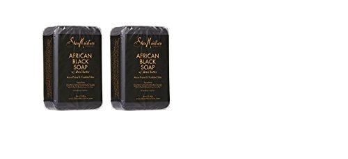Shea Moisture African Black Soap Bar Soap-8 oz (2 Pack)