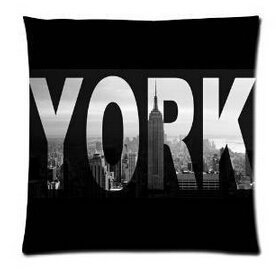 Unique Style I Love Ny New York City View Throw Pillow Cover Home Decorative Throw Pillowcase Square Zip Cover 18x18 (Nyc Zip)