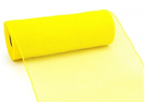 10 inch x 30 feet Deco Poly Mesh Ribbon (Yellow) : RE130229 (Outdoor Christmas Ribbon)