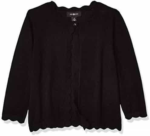 Joe Wenko Girls Turtle Mock Neck Bowknot Pullover Knit Solid Sweater Jumper