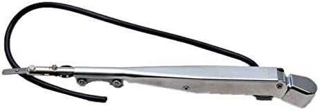 AFI 33012A Deluxe Stainless Steel Adjustable Marine Windshield Wiper Arm for All AFI Motors 10 to 14, Black