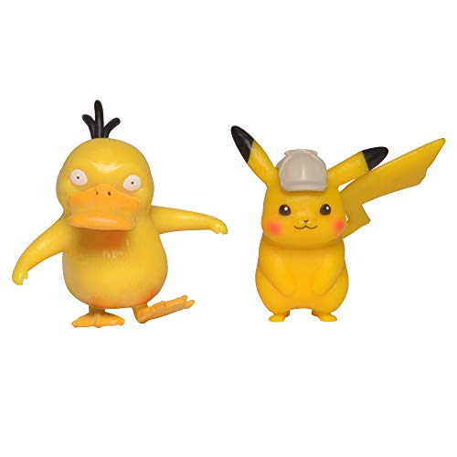 (Pokémon Detective Pikachu and Psyduck Figure 2-Pack - 2 Inch Mini Figure Set - Ages 3+ )